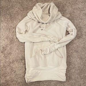 Lululemon white fleece sweatshirt.